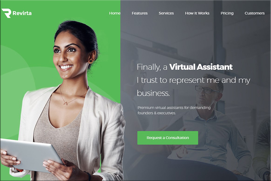 Revirta - Virtual Assistant WordPress Tema