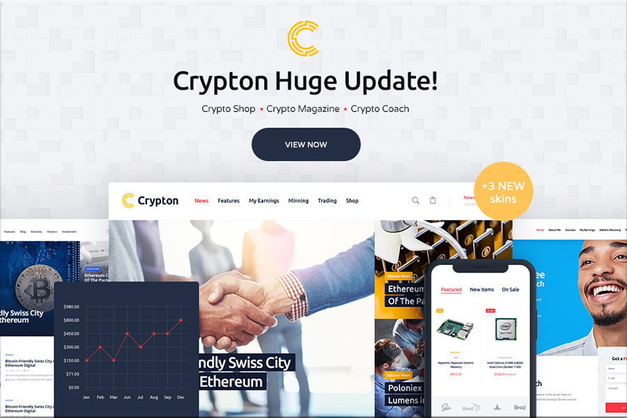Crypton - večnamenska tema kripto valute WordPress