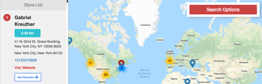 """WP Multi Store Locator Pro WordPress"" papildinys"