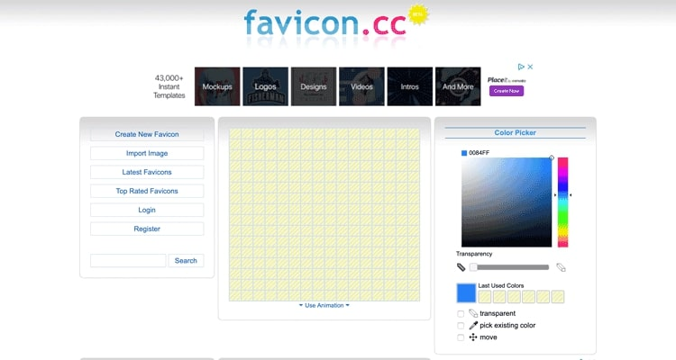De Favicon.cc website