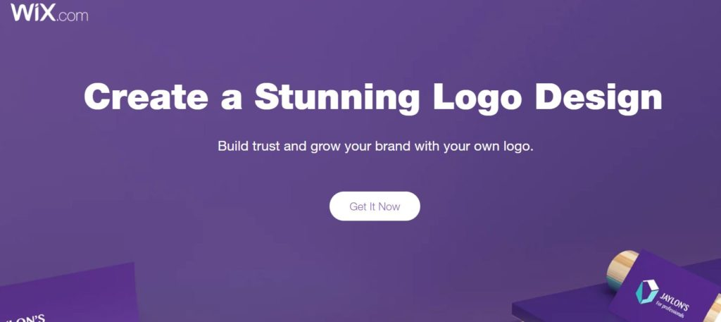 Wix logo maker homepage