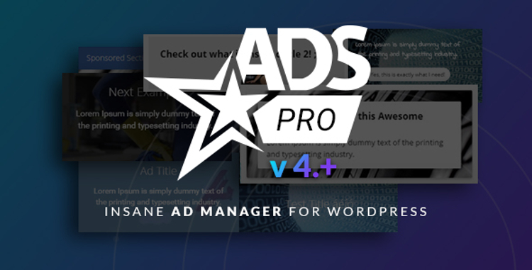 ADS PRO Advertising Advertising Premium WordPress Vtičnik
