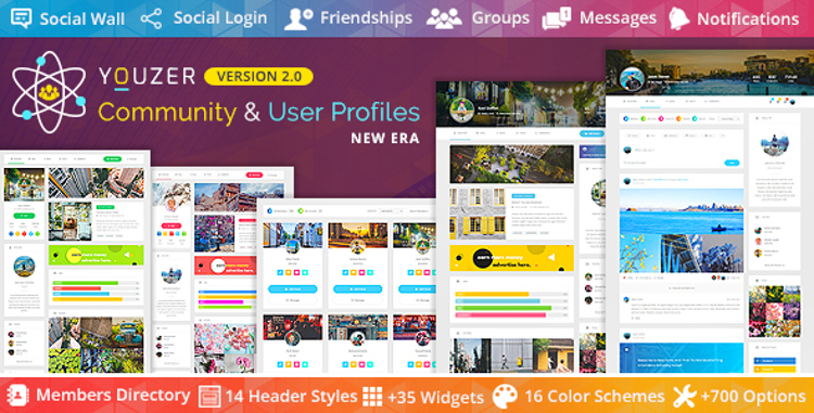 Youzer Community & User Profiles Premium WordPress Vtičnik