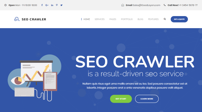 SEO Crawler - SEO Marketing WordPress Theme