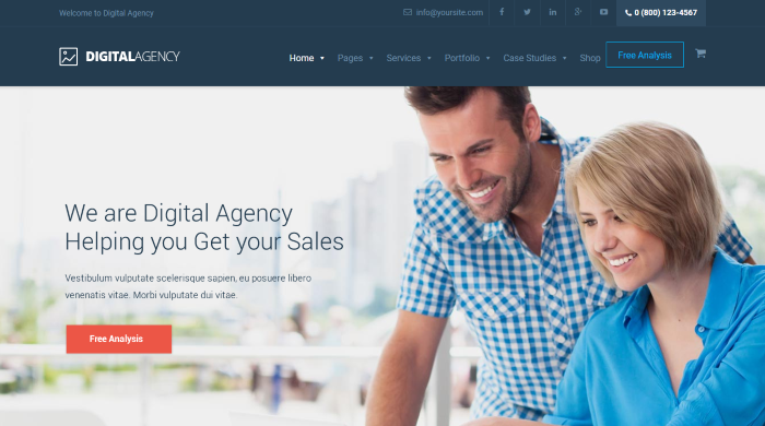 Agencia digital - Marketing WordPress Theme