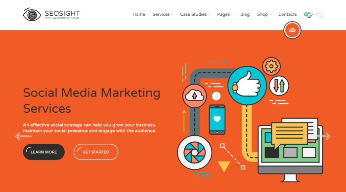 Seosight - Agencia de Marketing Digital WordPress Theme