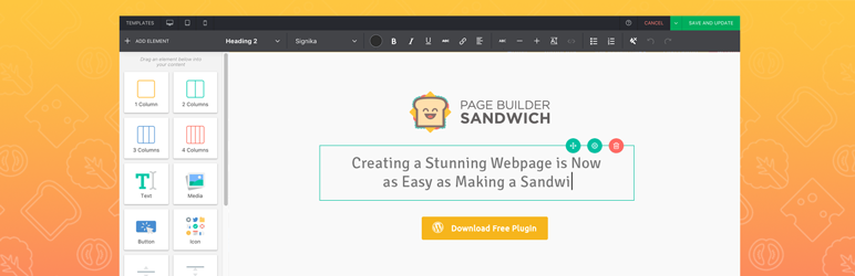 """Page Builder Sandwich"" - ""Front-End Page Builder"""