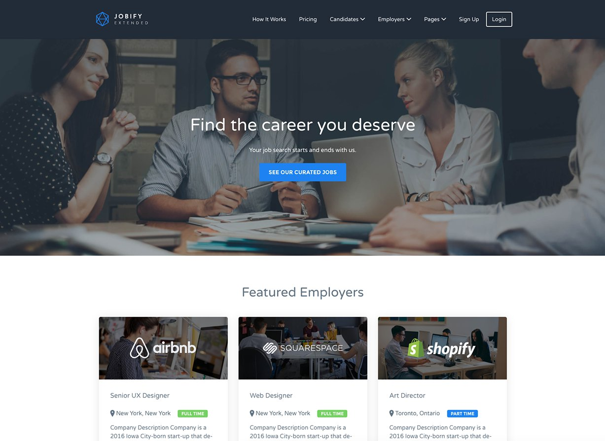 Jobify Business WordPress Theme