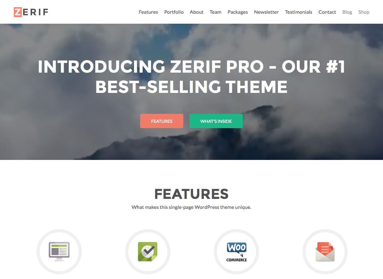 Tema de WordPress Zerif Pro Business