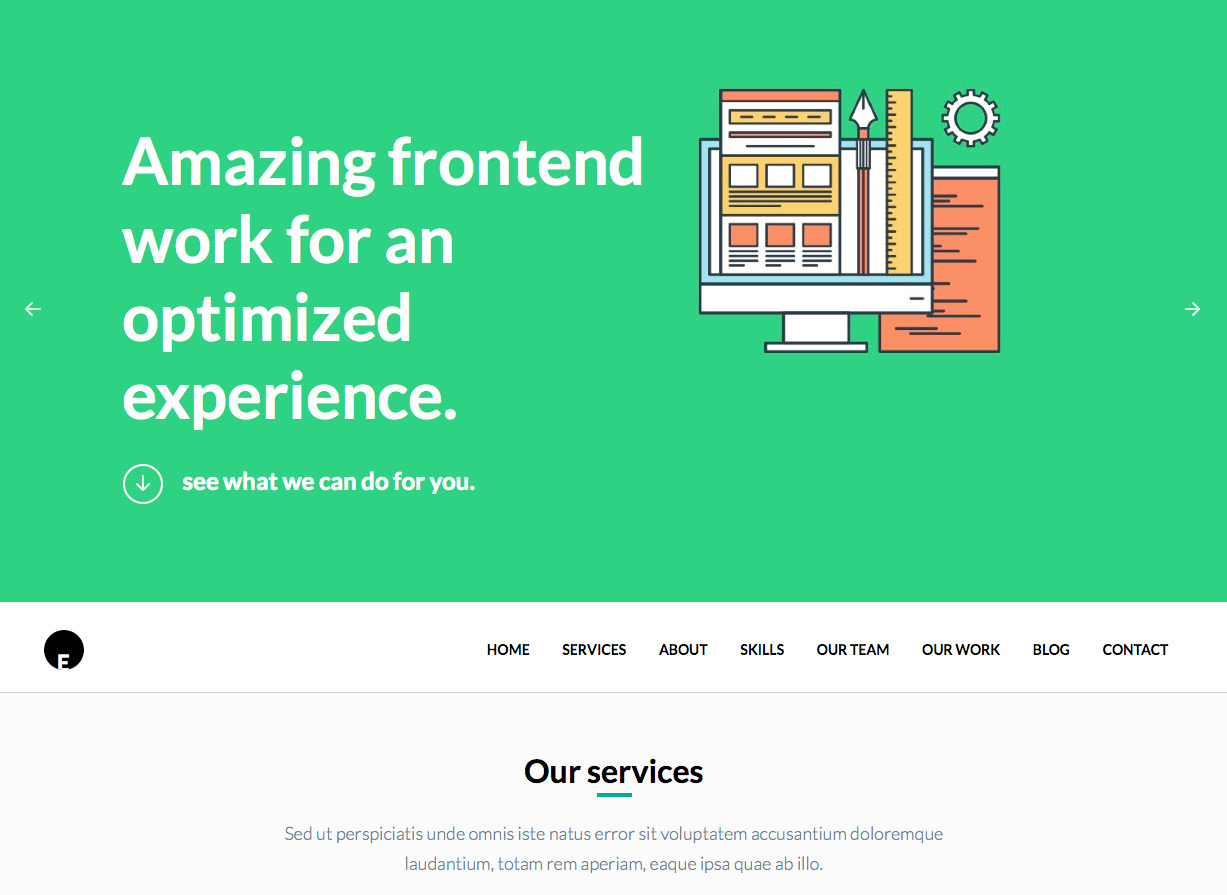 OneEngine Free Business WordPress Theme