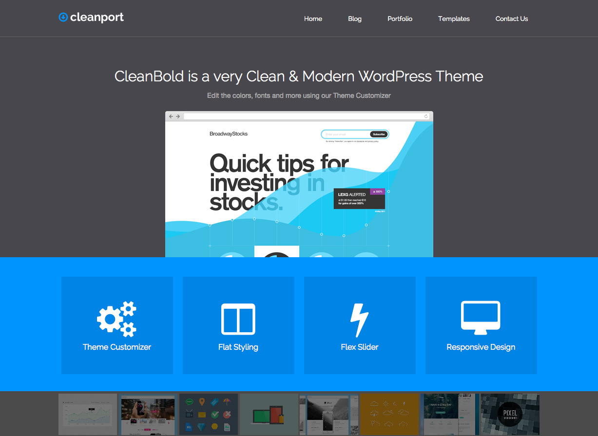 Tema CleanPort Business WordPress