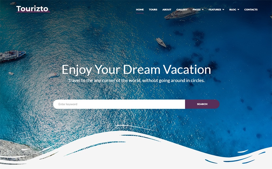 Tourizto Travel Company Elementor WordPress Theme