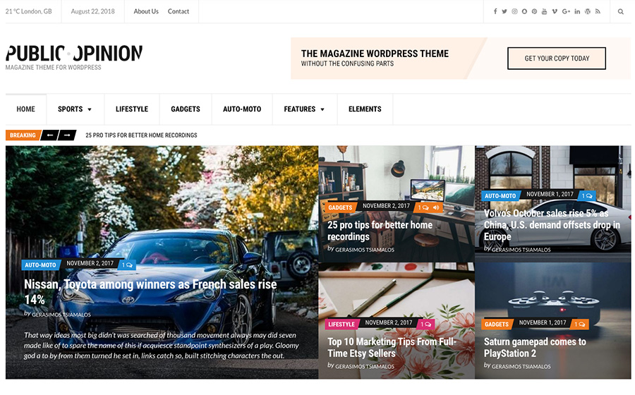 Public Opinion Magazine WordPress Theme