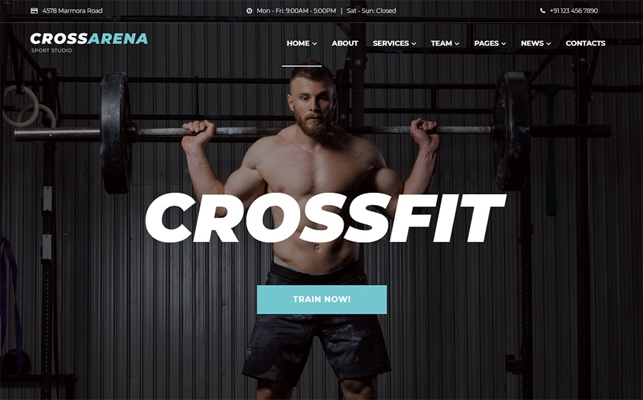 Cross Arena Crossfit Studio Elementor WordPress Theme