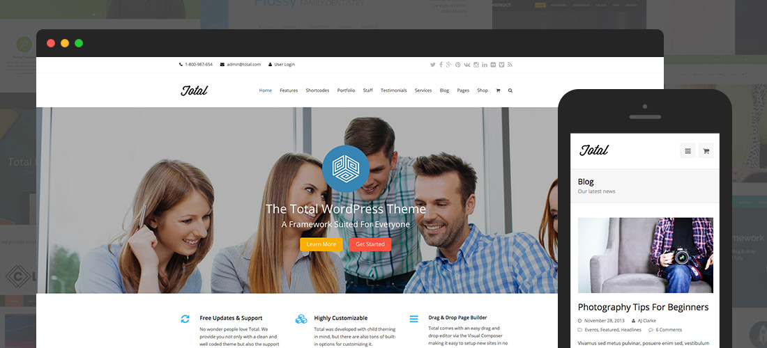 Totalt WordPress-tema
