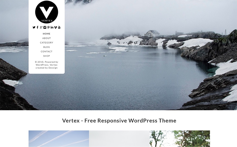 Vertex Simple Blog Free WordPress Theme