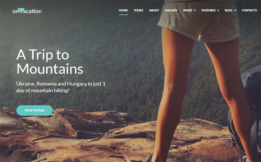 OnVacation Travel Company Elementor WordPress Theme