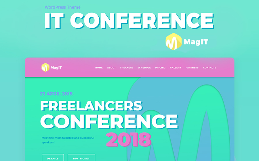 MagIT Conference Elementor WordPress Theme