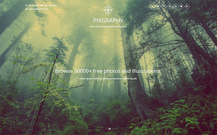Pixography Photography Gratis WordPress Theme