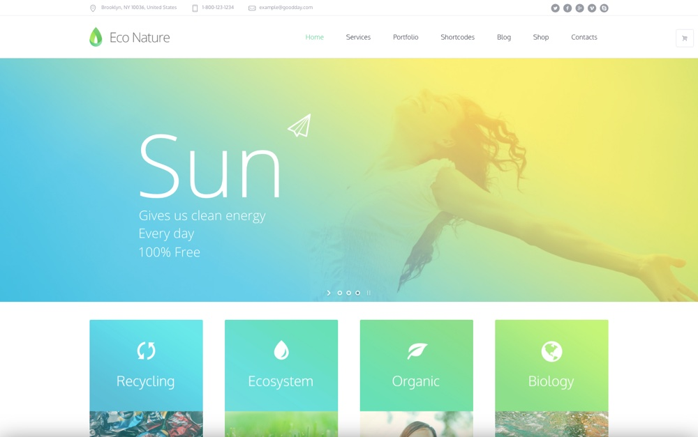 """Eco Nature"" ""WordPress"" tema"