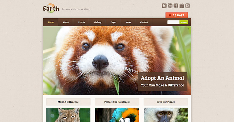 """Earth Eco"" ""WordPress"" tema"