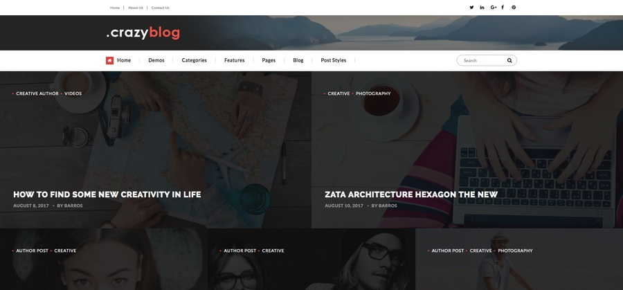 Crazyblog Magazine WordPress Theme