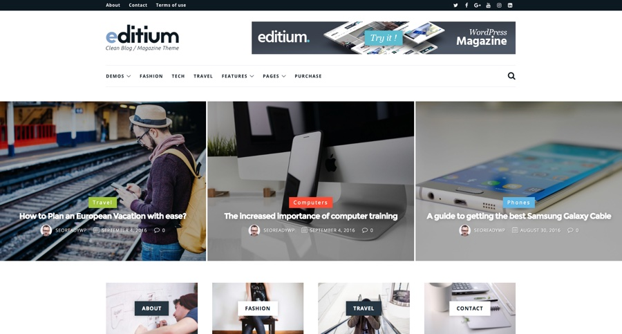 Editium Clean WordPress Blog Magazine Theme