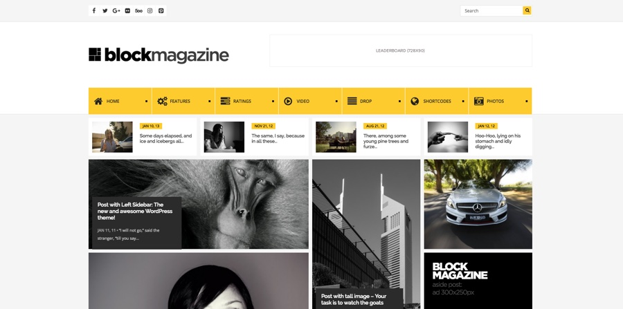 Blockera Flat Magazine WordPress Theme