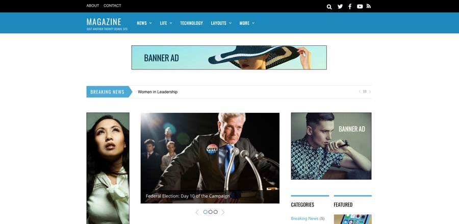 WordPress Theme med 3 kolumner