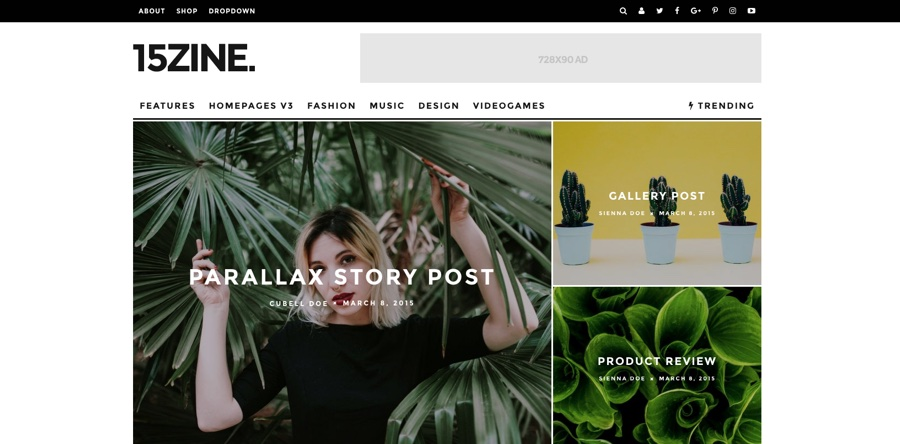15zine HD Magazine & News WordPress Theme
