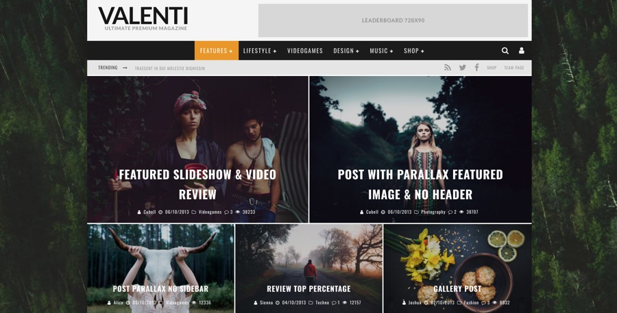 Valenti News & Magazine WordPress Theme
