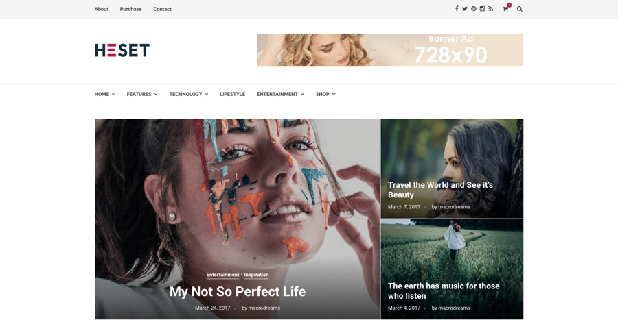 Heset Blog Magazine WordPress Theme