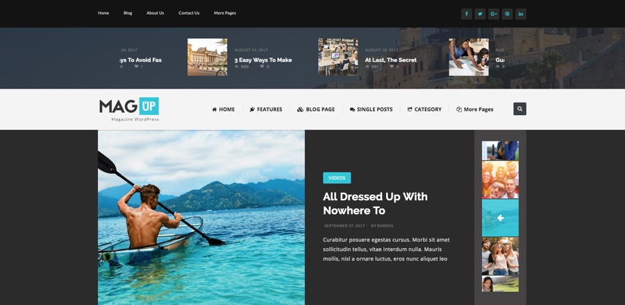 MagUp Modern Styled Magazine WordPress Theme
