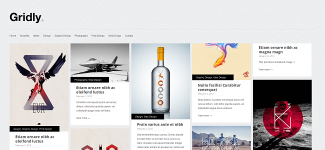 Tema de WordPress de Gridly Pinterest