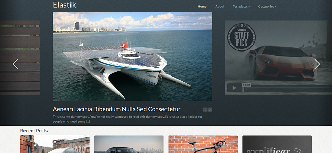 Elastik Pinterest WordPress Theme
