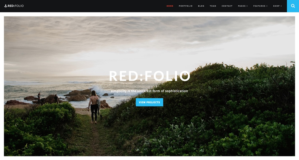"Raudona: ""Folio WordPress"" tema"