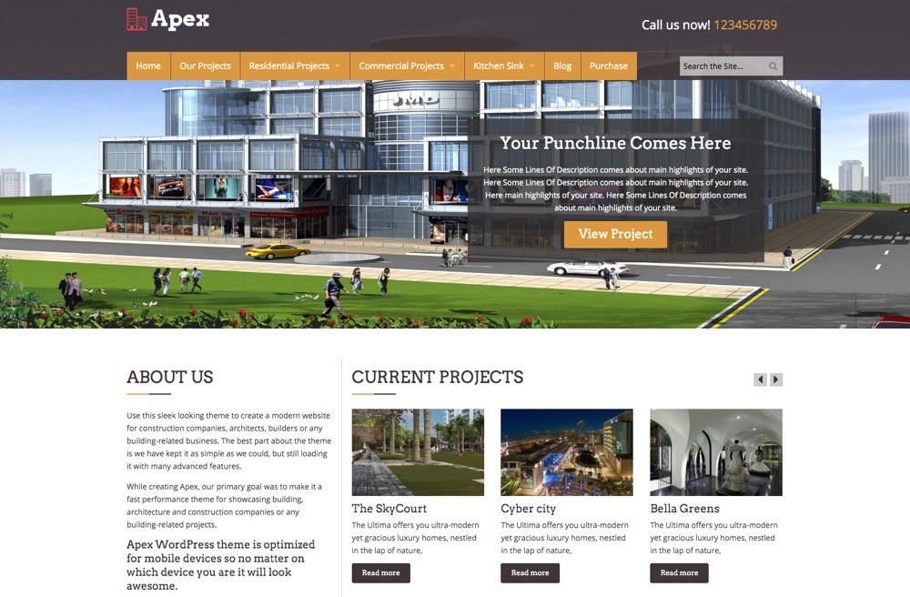 """Apexa WordPress"" tema"