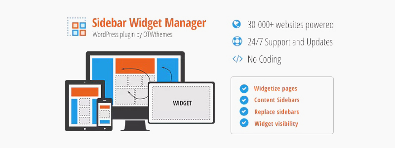 Sidebar & Widget Manager za WordPress