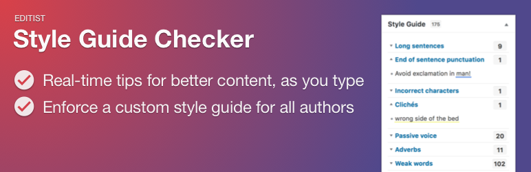 Style Guide Checker Plugin gratuito de WordPress