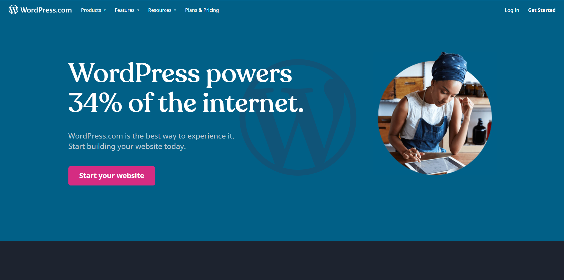 wordpress.com gratis målsida