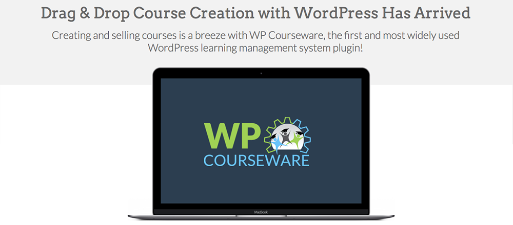 WP Courseware Arrastrar y soltar WordPress Course Creator