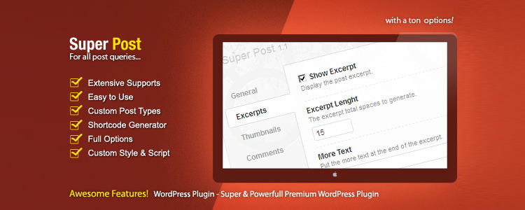 Doplnok Super Post Premium WordPress