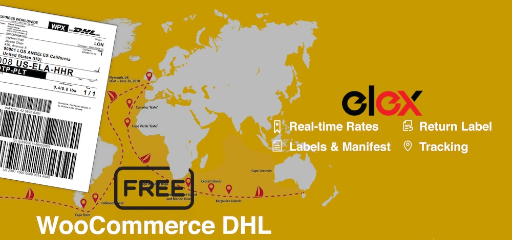 """ELEX WooCommerce DHL Express Shipping"""