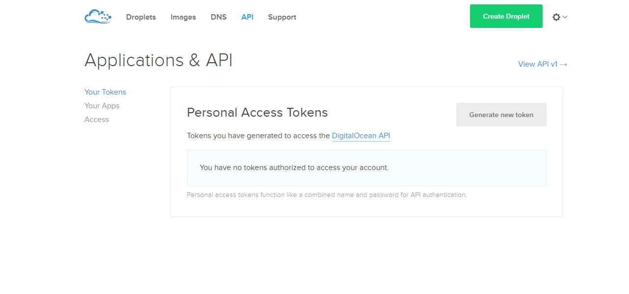 API DigitalOcean