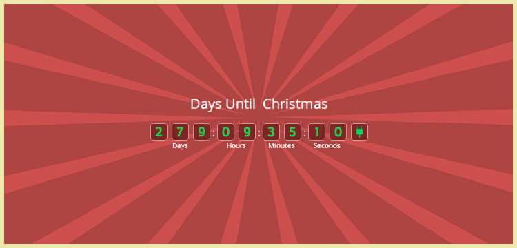 Holiday Countdown Gratis WordPress-plugin