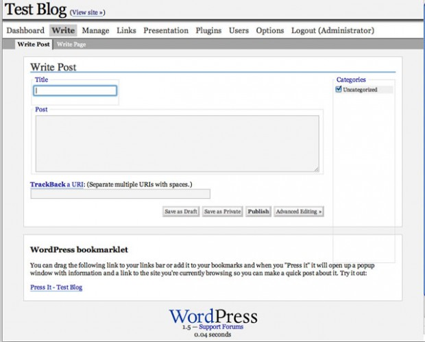 wordpress 1.5