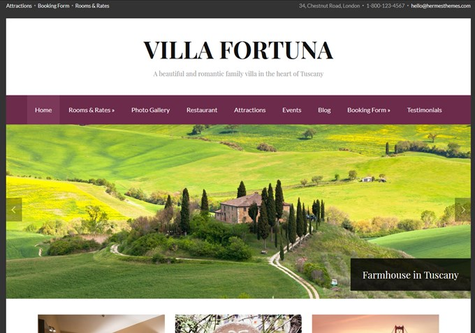 Téma Villa Fortuna WordPress