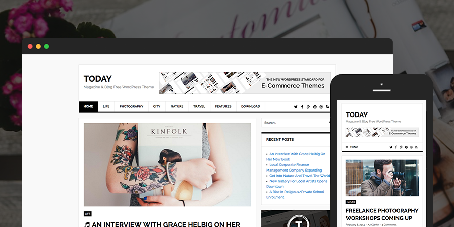 Hoy Blog & Magazine Tema gratuito de WordPress