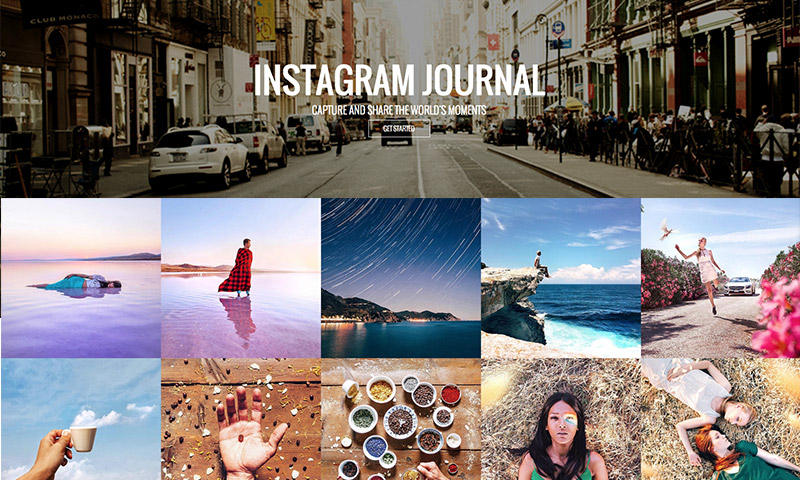 plugin de wordpress de cartera de diario de instagram