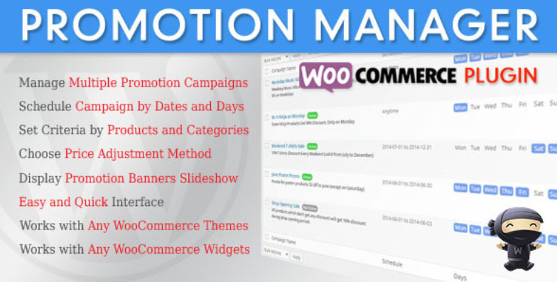 WooCommercePromotionManager